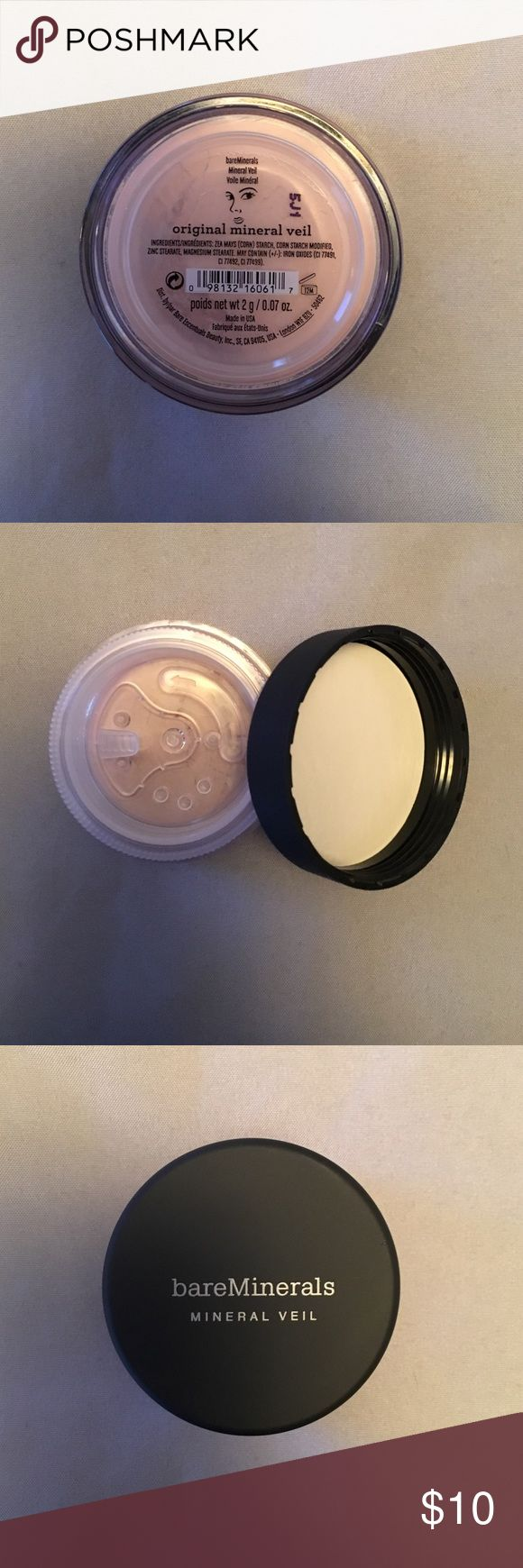 Bare minerals original mineral veil Bare minerals (mini) original mineral veil. I have 3 of these for sale but can be sold individually. Brand new! bareMinerals Makeup Face Powder