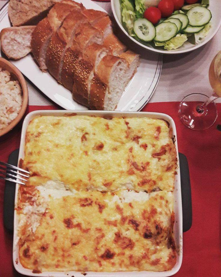 Pompoen-courgette lasagne