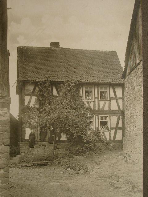 Stornfels um 1915 original fotografie eines stornfelser for Fachwerk bildung