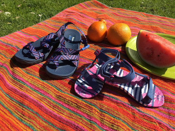 We're celebrating International Picnic Day with colorful Reggae sandals and yummy snacks!