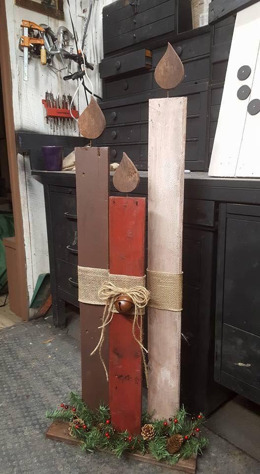 Mein Vater hat mir ein Bild von dieser Holzkerze geschickt, die sie in eine