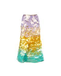 Cynthia Rowley   Multicolor Adelai Cascade Sequined Skirt   Lyst