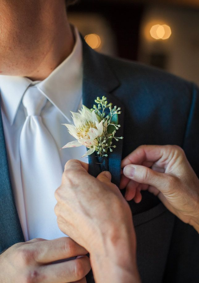 Awesome bout.  Blushing bride protea and seeded eucalyptus