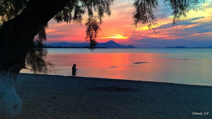 Sunset in Oropos, Attiki, Attica_ Greece