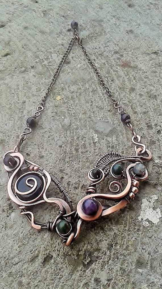 Copper necklaceHandmade copper wire necklace with by Tangledworld: