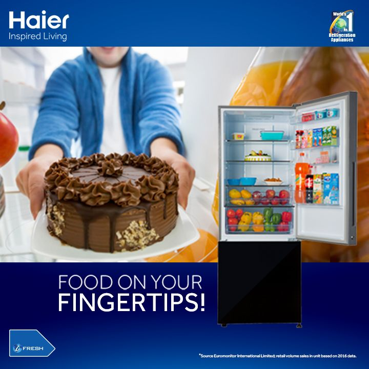 Haier #BottomMountedRefrigerator: With most of readily used items at table level, experience accessibility like never before. #HaierIndia #Technology #Appliances #InspiredLiving #Innovation #Fridge #Refrigerators #Haier