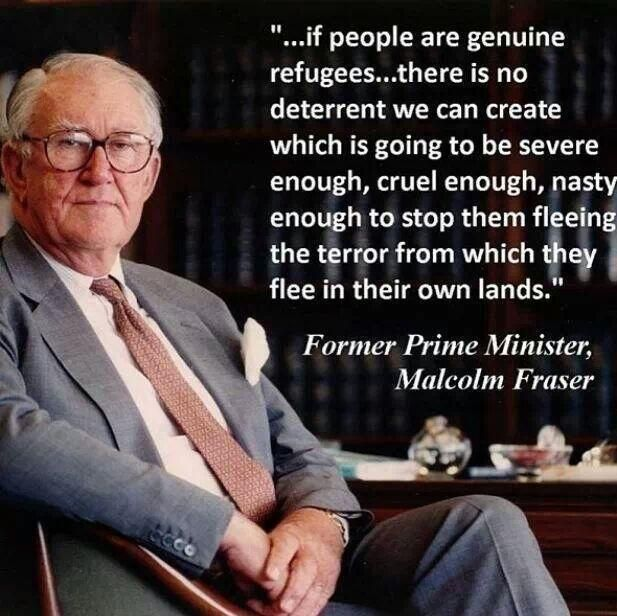 I find I agree with much of what Malcolm Fraser says these days. Not something I would ever have anticipated after Whitlam dismissal in 1975.