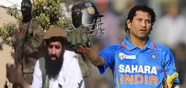 Don't praise Sachin Tendulkar, he's an Indian: Pakistani Taliban warns Islamabad media Islamabad: Tehrik-e-Taliban Pakistan (TTP) spokesperson was caught on camera warning Pakistan media for lauding Indian cricketer Sachin Tendulkar. http://daily.bhaskar.com/article-hf/WOR-dont-praise-sachin-tendulkar-he-an-indian-pakistani-taliban-warns-islamabad-medi-4447713-NOR.html
