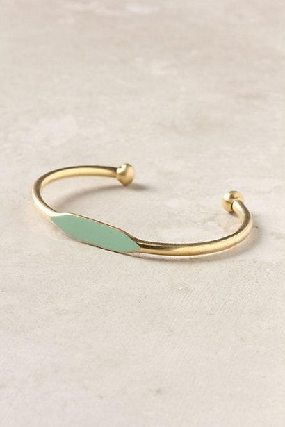 seafoam + gold bracelet