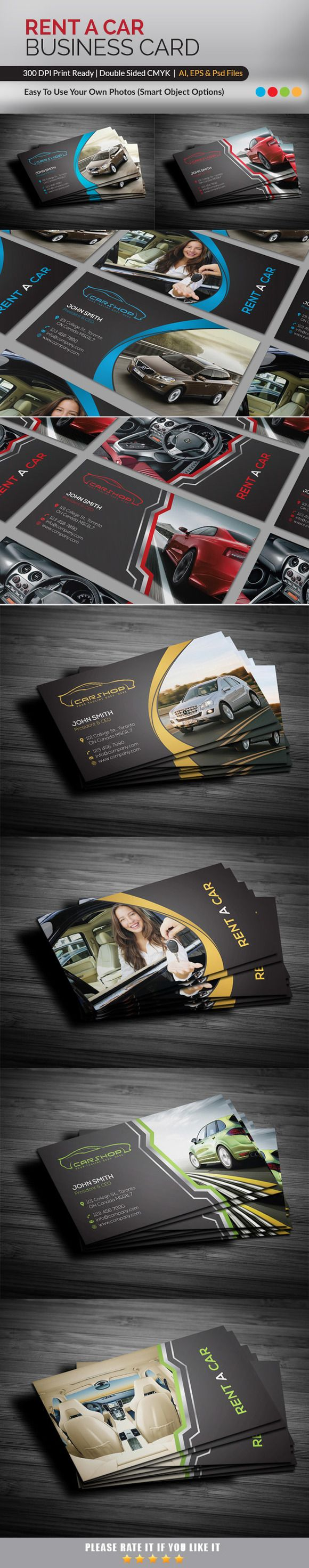Rent A Car Business Card by RQ Designs on @creativework247