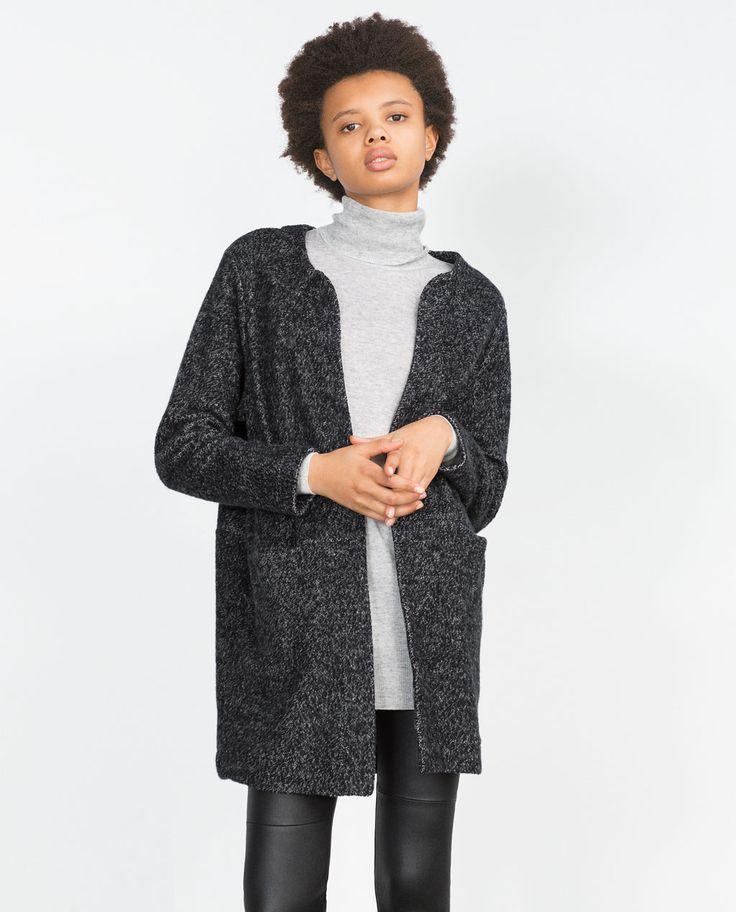 Image 2 of PLUSH COAT from Zara