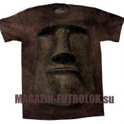 Этническая футболка Лицо статуи Моаи с острова Пасхи