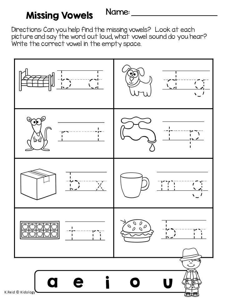 Worksheet Missing Vowel Worksheets 1000 images about worksheets cvc on pinterest simple sentences meidal vowels sound students practice sounding out and identifying the vowel sounds in cvc