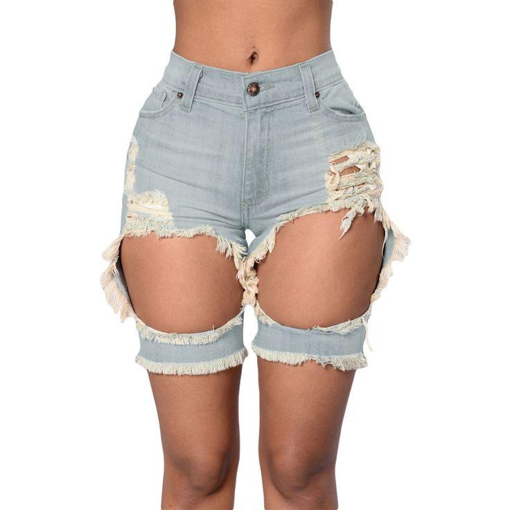 Tint Blue Destroyed Shorts LAVELIQ