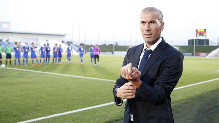 Football : Zinédine Zidane, nouvel entraîneur du Real Madrid