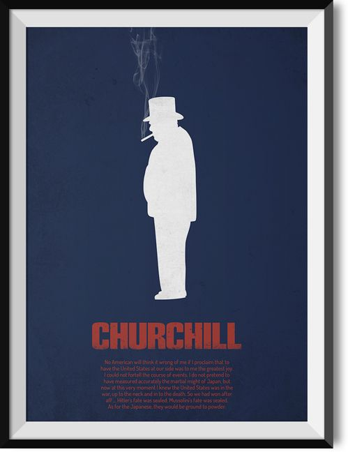 """Churchill """"Americans"""" quote poster"""