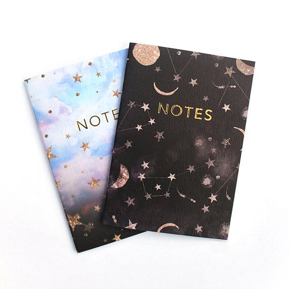 A pair of constellation notebooks that'll have you reaching for the stars. | 23 Inexpensive School Supplies That'll Make You Actually Want To Be In Class