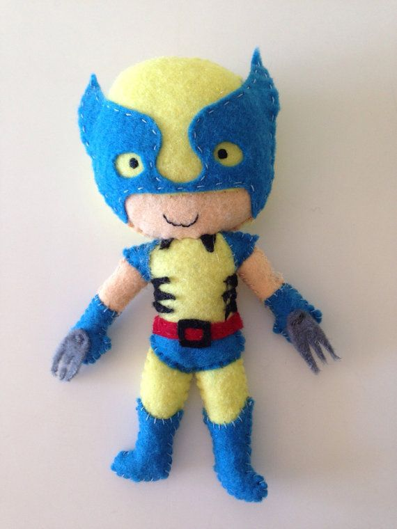 Marvel Super hero Wolverine felt toy / doll for by LaLaLaDesigns