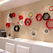 Decorative Shelving Wall Float Honeycomb Shelves Hexagonal Lattice Cube Storage