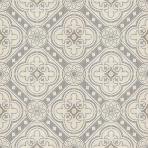Moroccan Encaustic Cement Pattern Grey Tile gr16