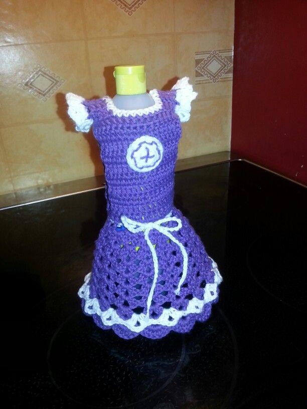 Heklet saloflase kjole