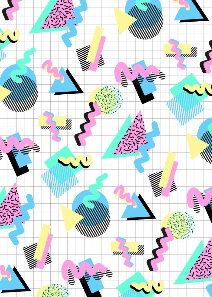 Shapes, 80s, 90s, graphics, iconic, pastel, colourful ...