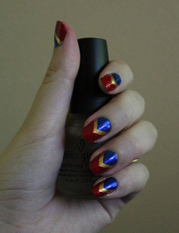 Freehand Chevrons. Inspired by Wonder Woman!