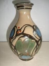 DANICO vase H: 19 cm D: 10 cm. År/year 1919-29. Sign: DANICO 36. #Danico #vase #Danish #ceramics #pottery #keramik #klitgaarden
