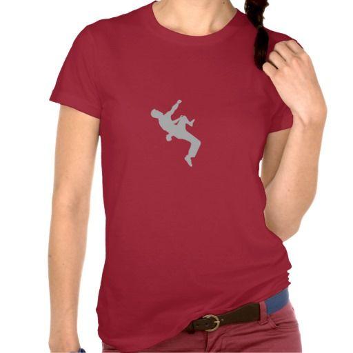 Climber silhouette t shirts  #climbing #zazzle