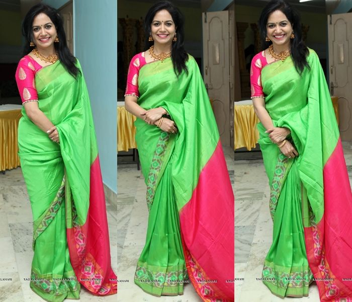741764f209bed The Epic Color Combination to Look Bright on Green Sarees ...
