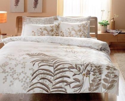 Купить постельное белье SANTIAGO белое Delux 1,5-сп от производителя Tac (Турция)
