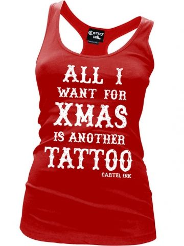"Women's ""All I Want For Christmas"" Tank by Cartel Ink (Red)"