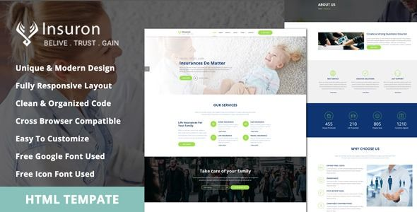 Insuron Insurance Agency Html5 Template Columns4 Bank