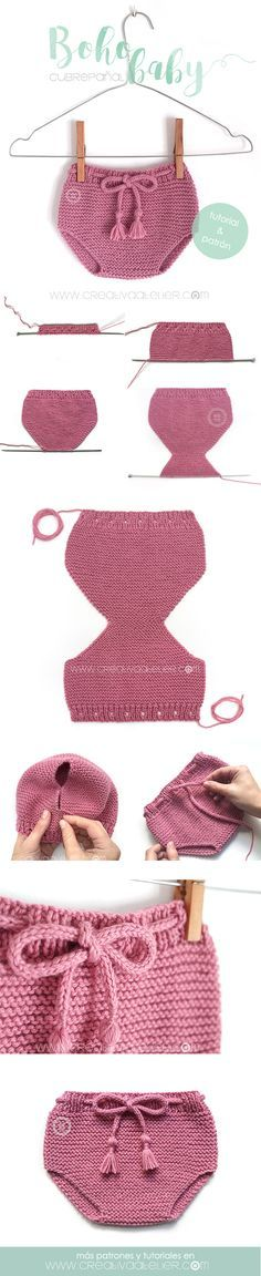 Free knitting pattern for baby diaper cover