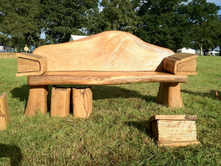 Chainsaw Carved Bench With Book Side Tables By Rob
