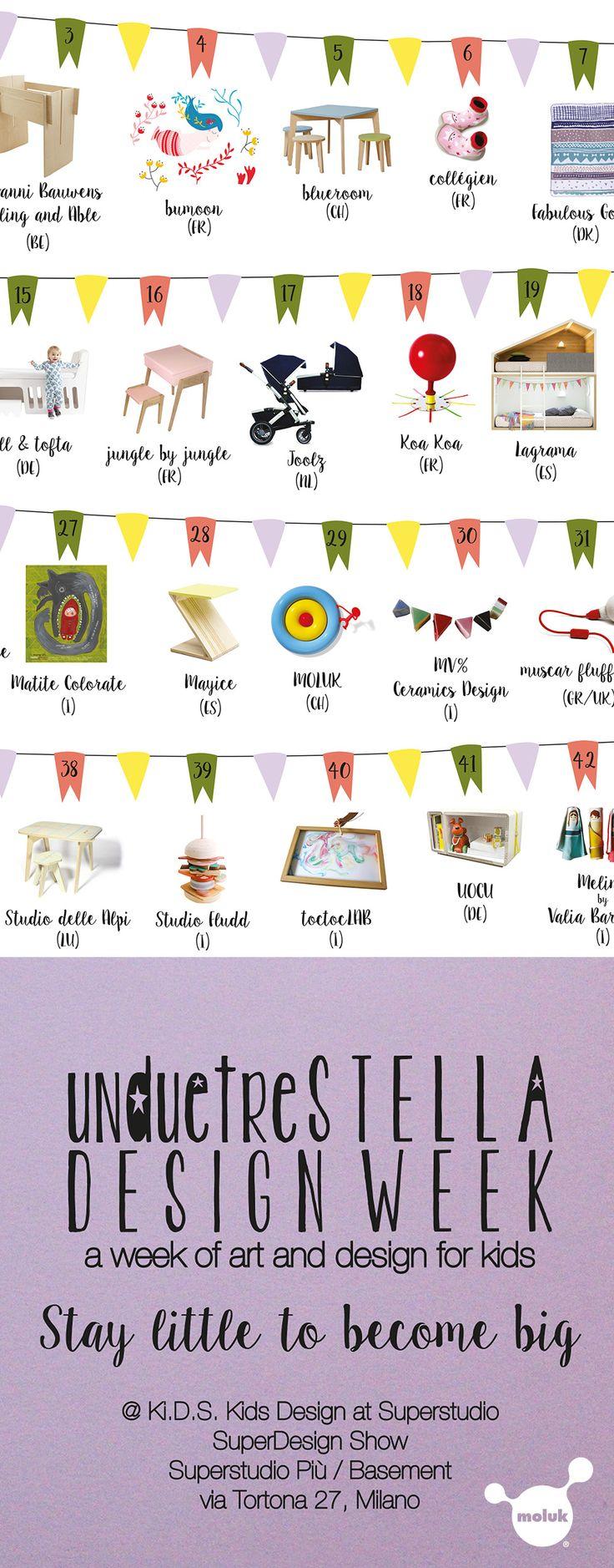 Lil Gaea presenting its creations at unduetrestella DESIGN WEEK @Ki.D.S Kids Design at Superstudio. Superstudio Più / Basement   April 14-19 2015 #staylittle #milandesignweek #fuorisalone