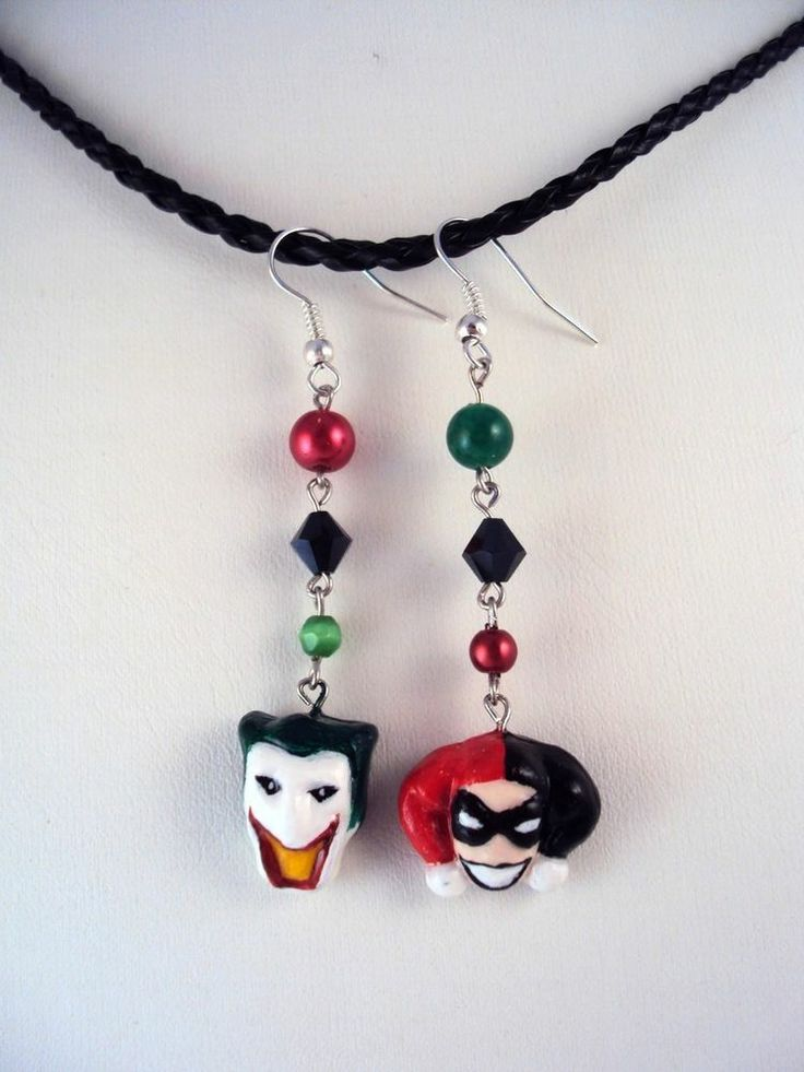 321 best images about harley quinn objects and for Harley quinn and joker jewelry