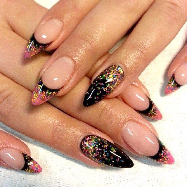 confetti nails nail art pinterest confetti nails confetti and manicure. Black Bedroom Furniture Sets. Home Design Ideas