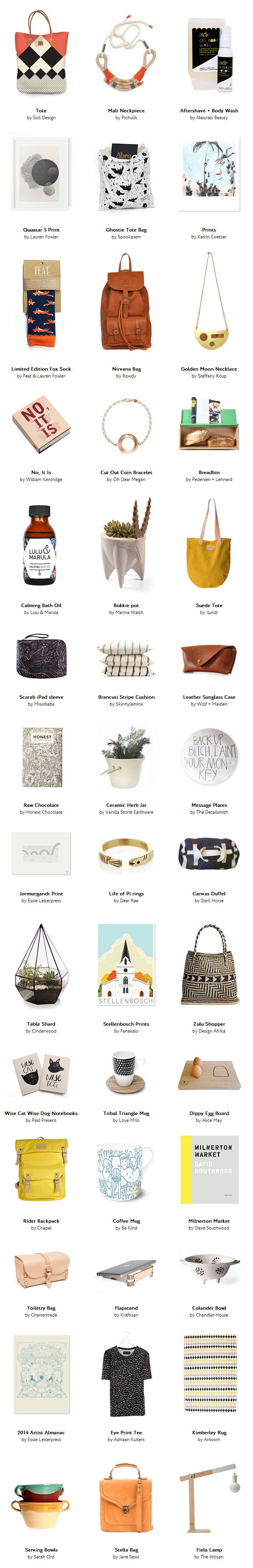 Gift Guide No.4: a South African gift guide!