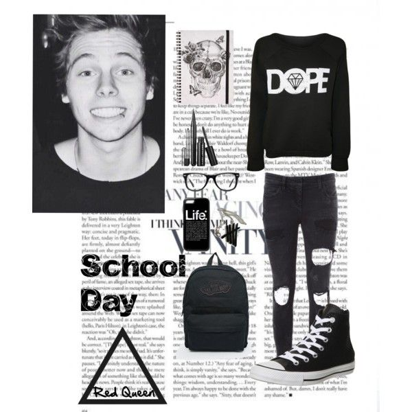 Luke by elleonora-scarlat on Polyvore featuring Faith Connexion, Converse, Vans and Muse