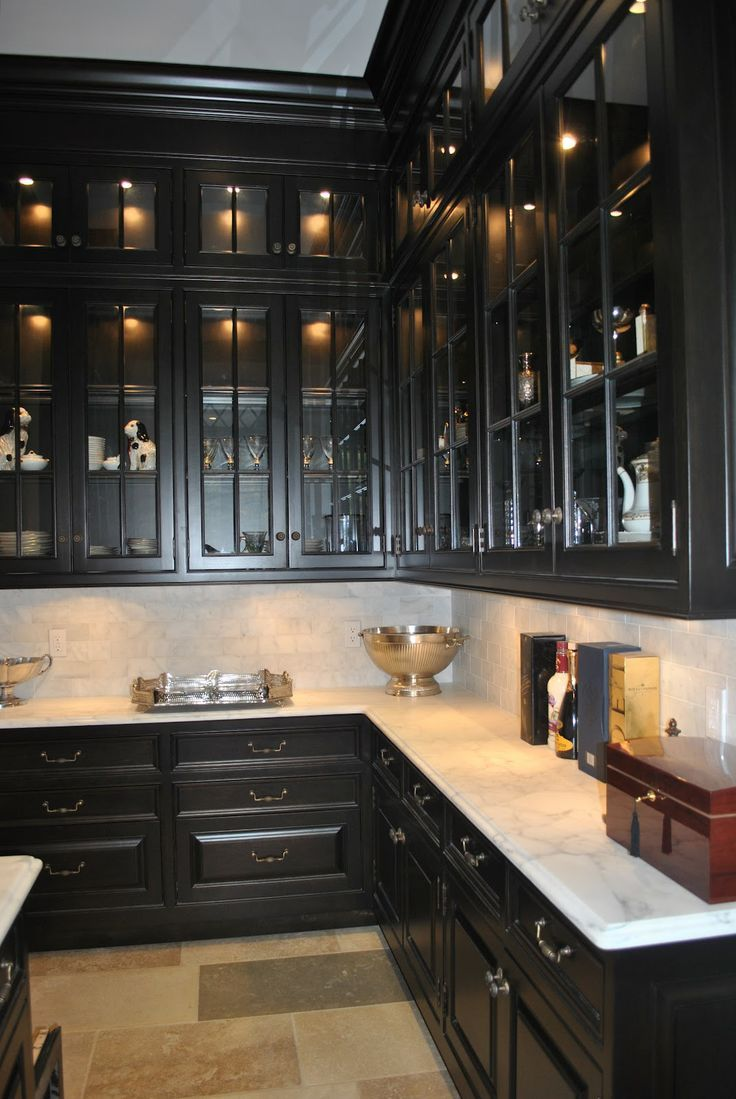 Design Chic: Things We Love: Butler's Pantries. love the black
