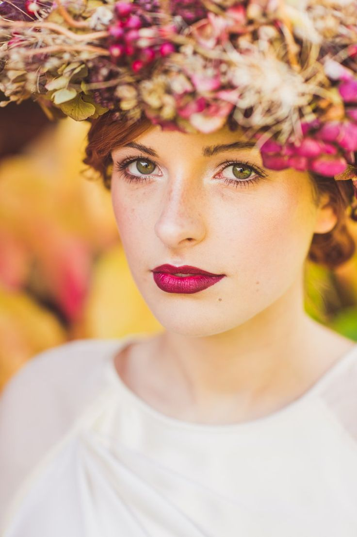 30 gorgeous wedding makeup looks mon cheri bridals - A Bridal Beauty Tutorial Showing Brides How To Create The Perfect Berry Lip And Metallic Eye For Your Wedding Day