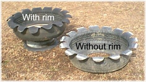 HOW TO MAKE BLOOMING TIRE PLANTERS