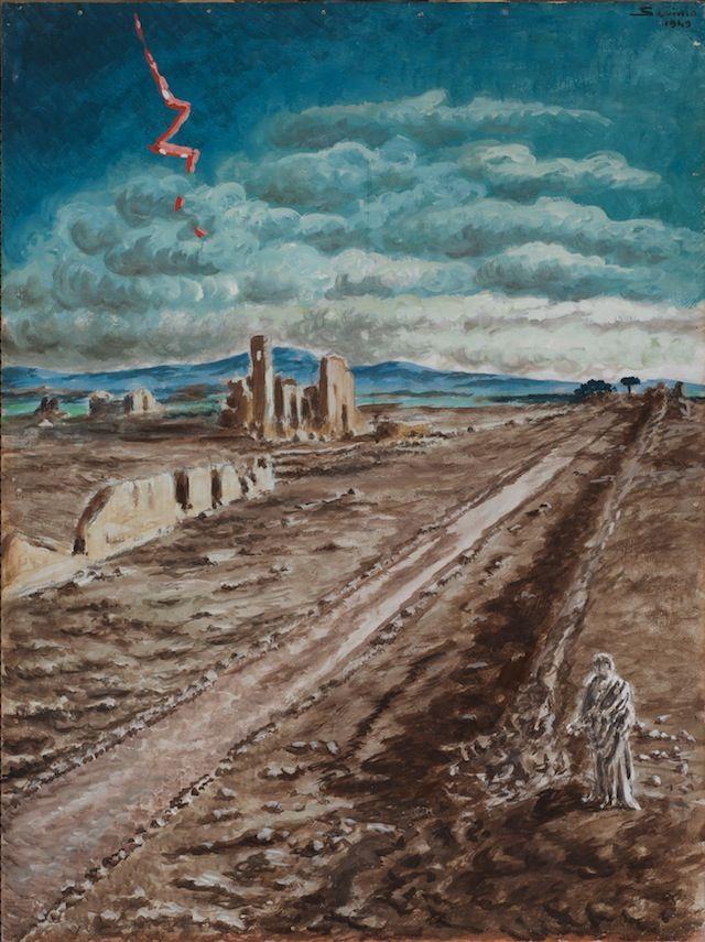 Via Appia 1949 by  Alberto Savinio,(1891 - 1952) Italian