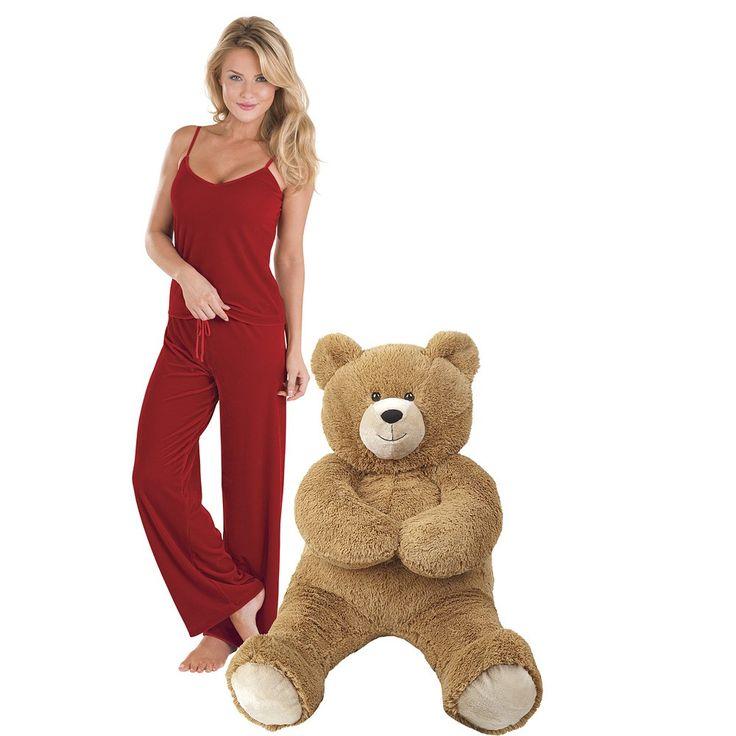 3' Lil' Hunka Love® Bear & Ruby Velour Lounge Set | Vermont Teddy Bear Company