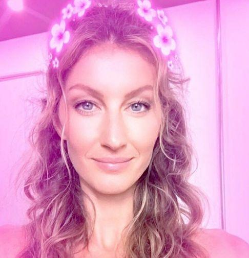 Gisele Bündchen cria seu Snapchat e escolhe seu filtro preferido