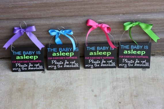 Baby Asleep - Door Hanger Notification