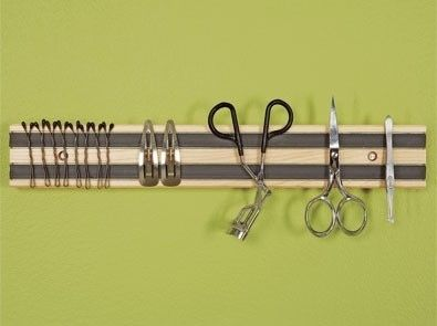 Use a Magnetic Rack to Store Hygiene Tools | 52 Totally Feasible Ways To Organize Your Entire Home