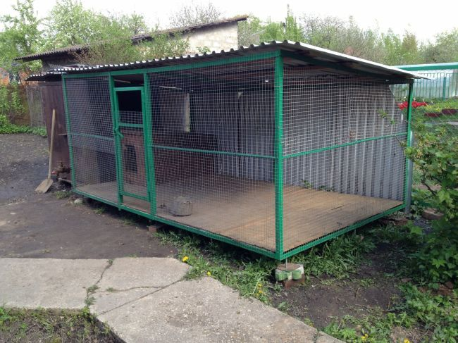 Строим вольер для собаки на даче