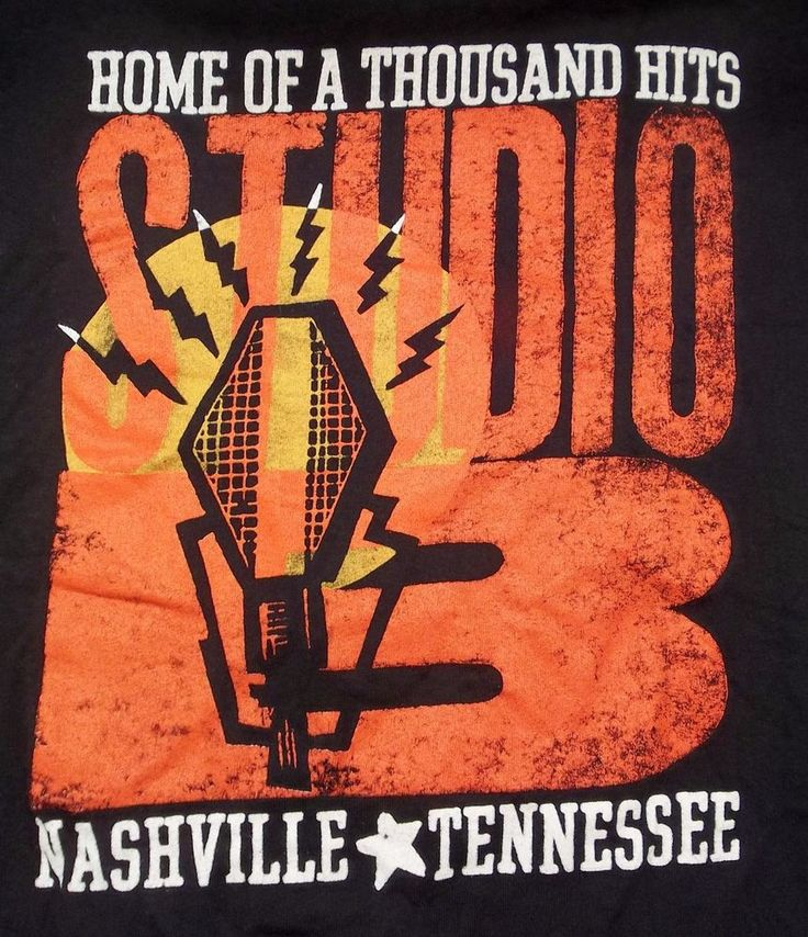 Studio B Nashville Tennessee T-Shirt Adult S Small Home Of A Thousand Hits